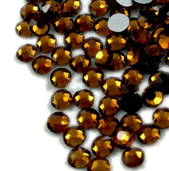 1440 pcs SS12 (3.0mm) High Quality Crystal Flatback Rhinestones - 2028 Dark Brown (Mocca 286) Non Hotfix