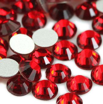 1440 pcs SS12 (3.0mm) High Quality Crystal Flatback Rhinestones - 2028 Red (Light Siam) No Hotfix