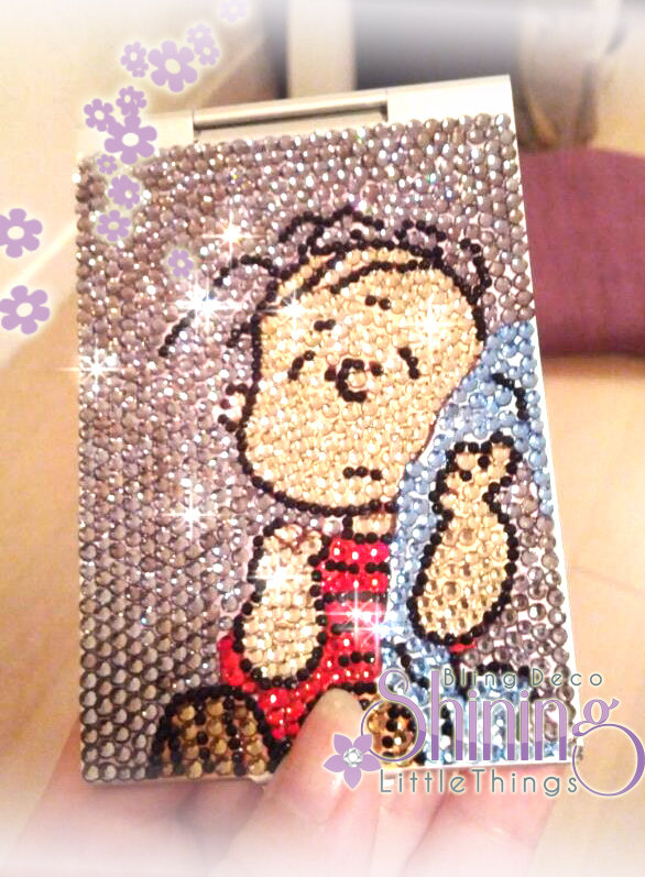 Bling Bling Linus Mirror Case made by Crystal Rhinestones