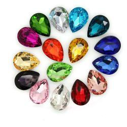 Tear drop loose rhinestone fancy crystal in pointed back 10 pcs 10x14mm
