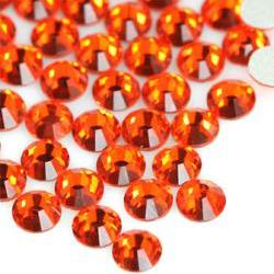 1440 pcs SS10(2.8mm) High Quality Crystal Flatback Rhinestones - 2028 Orange Red (Hyacinth 236) No Hotfix