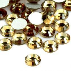 1440pcs Flatback Crystal Rhinestones in Supreme Quality - SS8 2.4mm Champaign (Light Colorado Topaz)