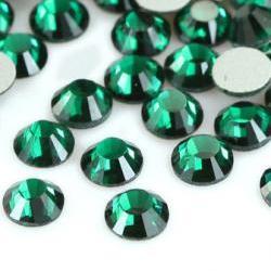 1440pcs Crystal Flatback Rhinestones Green (Emerald 205) - SS16 (4.0mm) No Hotfix