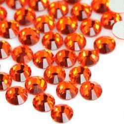 1440pcs Crystal Flatback Rhinestones Orange Red/ Hyacinth 236 SS12(3.0mm) non hotfix