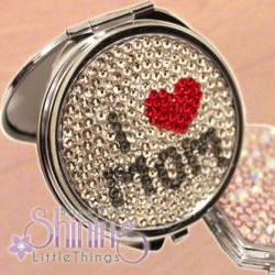 Mother's Day Best Gift - I LOVE MOM Mirror Case Bling Bling